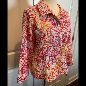 Ruby Rd lightweight floral spring blouse, 14